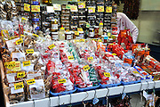 Eastern Europe, Hungary, Budapest, outdoor street market stall selling Paprika