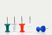 Row of Push Pins