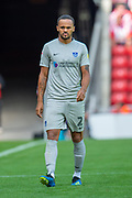 Anton Walkes (#2) of Portsmouth FC during the EFL Sky Bet League 1 match between Sunderland and Portsmouth at the Stadium Of Light, Sunderland, England on 17 August 2019.