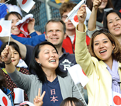 30.05.2010, UPC Arena, Graz, AUT, WM Vorbereitung, Japan vs England, im Bild Fans der Japaner, EXPA Pictures © 2010, PhotoCredit: EXPA/ S. Zangrando / SPORTIDA PHOTO AGENCY