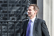 UNITED KINGDOM, London: 27 April 2016 Health Secretary Jeremy Hunt leaves No10 Downing Street this morning. Rick Findler / Story Picture Agency