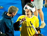 Londen - Keeper Maddy Hinch (Eng)  na  de cross over wedstrijd Engeland-Korea (2-0) bij het WK Hockey 2018 in Londen.    COPYRIGHT KOEN SUYK