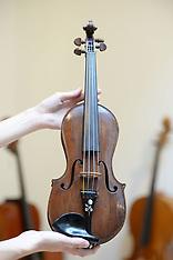 London - Violin Made From Winston Churchill's Cigar Box - 19 Oct 2016