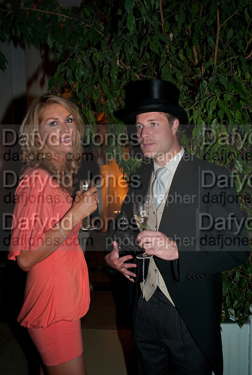 DANIELLE HAYES; ANDREW HAYES, The Quintessentially and Perrier-Jou't Summer Party at The Orangery at Kensington Palace. London. 18 June 2009<br /> DANIELLE HAYES; ANDREW HAYES, The Quintessentially and Perrier-Jouët Summer Party at The Orangery at Kensington Palace. London. 18 June 2009