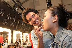Backstage Make up artist Boris Entrup during the Mercedes-Benz Fashion Week, in Berlin, Germany,  January 14, 2013. Photo by Imago / i-Images...UK ONLY
