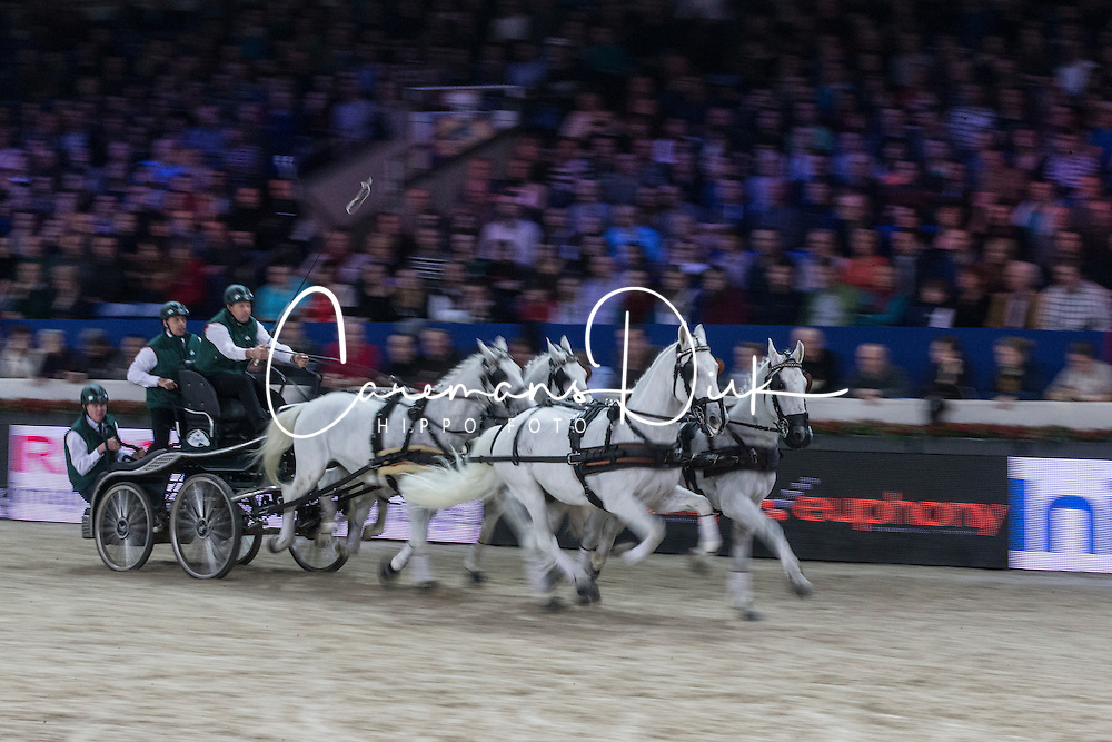 Chardon IJsbrand (NED)<br /> FEI World Cup Driving<br /> Flanders Christmas Jumping - Mechelen 2012<br /> © Dirk Caremans