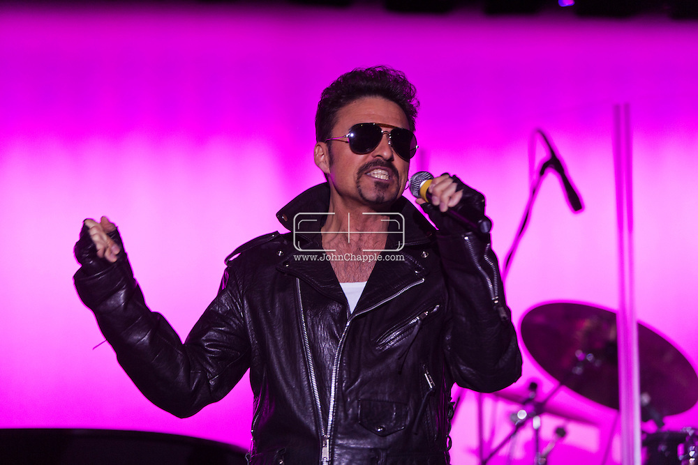 24th February 2011. Las Vegas, Nevada.  Celebrity Impersonators from around the globe were in Las Vegas for the 20th Annual Reel Awards Show. Pictured is 42-year-old Vancouver bus .driver Bill Pantazis as George Michael. Photo © John Chapple / www.johnchapple.com..