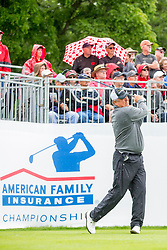 June 22, 2018 - Madison, WI, U.S. - MADISON, WI - JUNE 22: Kenny Perry tees off on the first tee during the American Family Insurance Championship Champions Tour golf tournament on June 22, 2018 at University Ridge Golf Course in Madison, WI. (Photo by Lawrence Iles/Icon Sportswire) (Credit Image: © Lawrence Iles/Icon SMI via ZUMA Press)