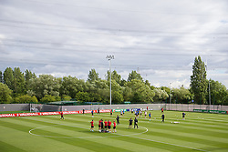 NEWPORT, WALES - Monday, August 12, 2013: Wales players training at the FAW National Development Centre at Dragon Park ahead of the International friendly against the Republic of Ireland. (Pic by David Rawcliffe/Propaganda)