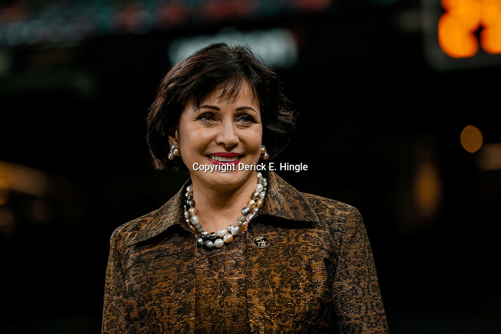 Aug 17, 2018; New Orleans, LA, USA; New Orleans Saints owner Gayle Benson prior to a preseason game against the Arizona Cardinals at the Mercedes-Benz Superdome. Mandatory Credit: Derick E. Hingle-USA TODAY Sports