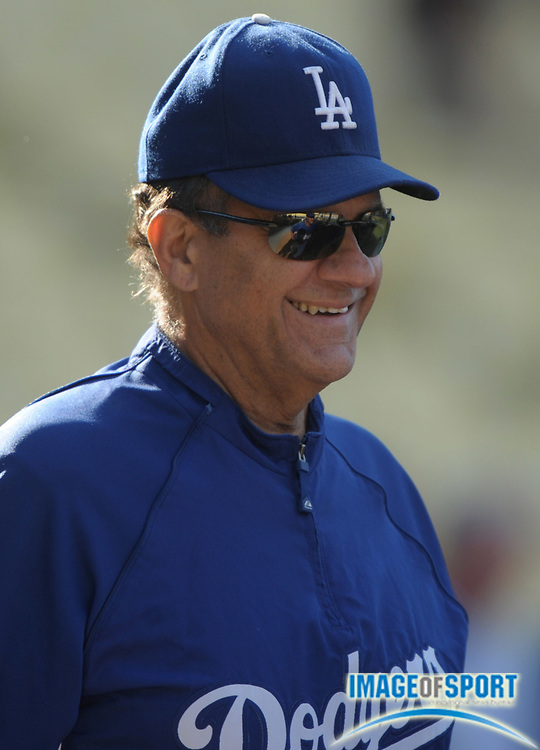 Aug 2, 2010; Los Angeles, CA, USA; Los Angeles Dodgers manager Joe Torre (6) before the game against the San Diego Padres at Dodger Stadium. Photo by Image of Sport