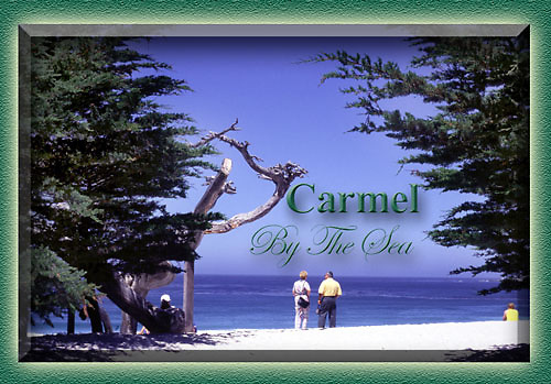 Monterey, California souvenir magnets, Carmel beach