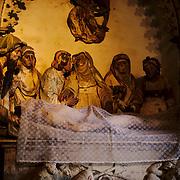 Visitors at the Coimbras chapel, only open during Semana Santa.