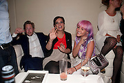 SAM COOPER; LILY ALLEN; JAIME WINSTON, Esquire Magazine's June issue hosted by the magazine's new editor Alex Bilmes and singer Lily Allen. Sketch.  5 May 2011<br /> <br />  , -DO NOT ARCHIVE-© Copyright Photograph by Dafydd Jones. 248 Clapham Rd. London SW9 0PZ. Tel 0207 820 0771. www.dafjones.com.