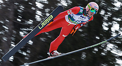 12.01.2014, Kulm, Bad Mitterndorf, AUT, FIS Ski Flug Weltcup, Erster Durchgang, im Bild Dawid Kubacki (POL) // Dawid Kubacki of Poland during the first round of FIS Ski Flying World Cup at the Kulm, Bad Mitterndorf, .Austria on 2014/01/12, EXPA Pictures © 2013, PhotoCredit: EXPA/ Erwin Scheriau