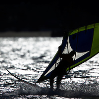 Windsurfers at Sandy Hook.