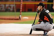 PHOENIX, AZ - JUNE 11:  Ichiro Suzuki #51 of the Miami Marlins watches on during batting practice prior to the game against the Arizona Diamondbacks at Chase Field on June 11, 2016 in Phoenix, Arizona.  (Photo by Jennifer Stewart/Getty Images)
