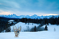 Snowshoes, Togwotee Pass, Grand Tetons, Winter, Jackson Hole, Wyoming