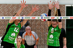 26-10-2019 NED: Dros Alterno - Set Up 65, Apeldoorn<br /> Round 4 of Eredivisie volleyball - Romy Hietbrink #12 of Alterno, Lisa Nobel #5 of Alterno
