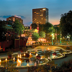 The Tivoli Garden was founded i 1843, and at that time is was located just outside the city wall of Copenhagen. Now a days it is located down town Copenhagen, and it is the place to have fun, eat, listen to music and relax.