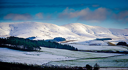 Snow on the hills in South Lanarkshire, Scotland on a cold winter morning.<br /> <br /> (c) Andrew Wilson | Edinburgh Elite media