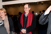 RICHARD CORK, 'Engagement' exhibition of work by Jennifer Rubell. Stephen Friedman Gallery. London. 7 February 2011. -DO NOT ARCHIVE-© Copyright Photograph by Dafydd Jones. 248 Clapham Rd. London SW9 0PZ. Tel 0207 820 0771. www.dafjones.com.