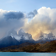 Storm blowing through the granite peaks - Torres del Paine National Park, Chile - 14 x 11