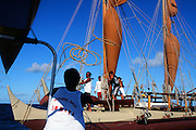 Hokulea sailing off Oahu, Hawaii