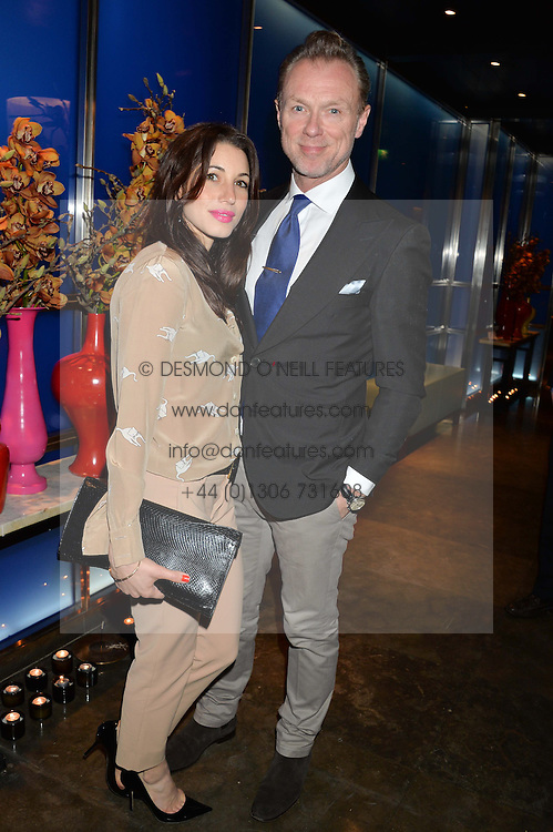 GARY KEMP & LAUREN KEMP at a dinner hosted by Anya Hindmarch and Dylan Jones to celebrate the end London Collections: Men 2014 held at Hakkasan, 8 Hanway Place, London on 8th January 2014.