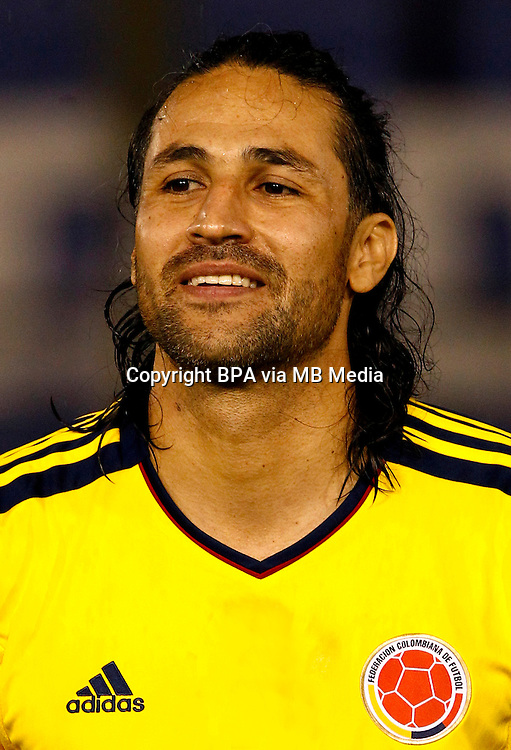 Football Fifa Brazil 2014 World Cup Matchs / South America - Group Matches /<br /> Paraguay vs Colombia 1-2  ( Defensores del Chaco Stadium-Asuncion ,Paraguay )<br /> Mario YEPES of Colombia ,  during the match between Paraguay and Colombia