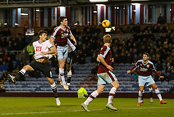 Chris Martin of Derby County fires a header at goal - Mandatory byline: Matt McNulty/JMP - 25/01/2016 - FOOTBALL - Turf Moor - Burnley, England - Burnley v Derby County - Sky Bet Championship