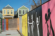 BENTONVILLE, AR - FEBRUARY 15:  Art painted on fences and walls around Bentonville, Arkansas.<br /> CREDIT Wesley Hitt for The Wall Street Journal<br /> WALMART-Bentonville Scene-setters