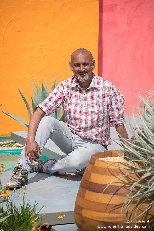Manoj Malde<br /> Beneath a Mexican Sky Garden<br /> RHS Chelsea Flower Show 2017<br /> Design: Manoj Malde<br /> Built by: Living Landscapes<br /> Sponsored by: Inland Homes PLC<br /> Photography &copy; Copyright Jonathan Buckley