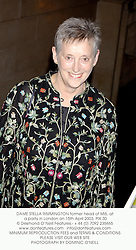 DAME STELLA RIMMINGTON former head of MI5, at a party in London on 15th April 2003. PIX 30