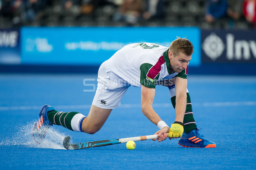 Surbiton's Brendan Creed. Holcombe v Surbiton - Semi-Final - Men's Hockey League Finals, Lee Valley Hockey & Tennis Centre, London, UK on 22 April 2017. Photo: Simon Parker