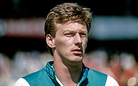 Alan McDonald, footballer, N Ireland, Queen's Park Ranger, 19880509AMD.<br /> <br /> Copyright Image from Victor Patterson,<br /> 54 Dorchester Park, Belfast, UK, BT9 6RJ<br /> <br /> t1: +44 28 90661296<br /> t2: +44 28 90022446<br /> m: +44 7802 353836<br /> <br /> e1: victorpatterson@me.com<br /> e2: victorpatterson@gmail.com<br /> <br /> For my Terms and Conditions of Use go to<br /> www.victorpatterson.com