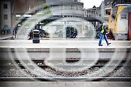 Sfeerbeelden van algemene stakingsdag NMBS-station Mol-foto's Joren De Weerdt JDW