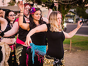 09 NOVEMBER 2013 - PHOENIX, AZ:   A group of belly dancers at the 7th annual Phoenix Annual Parade of the Arts. The arts walk/parade started in 2006 and now draws hundreds of people in downtown Phoenix.    PHOTO BY JACK KURTZ