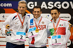 ROZOY Charles, TARASOV Denis, ANDRADE GUILLEN Luis Armando FRA, RUS, MEX at 2015 IPC Swimming World Championships -  Men's 100m Butterfly S8