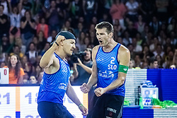 Tadej Bozenk and Blaz Jakopin of Slovenia at Beach Volleyball Challenge Ljubljana 2019, on August 4, 2019 in Kongresni trg, Ljubljana, Slovenia. Photo by Grega Valancic / Sportida