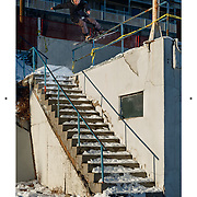 Andy James Australian snowboarder's  Anz snowboarding magazine, full page photo feature, article, interview,