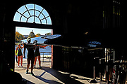 A Women's Youth Eights team returns their boat to the Weld Boathouse during Day 2 of The 52nd Head of the Charles Regatta on October 23, 2016 in Cambridge, Massachusetts.