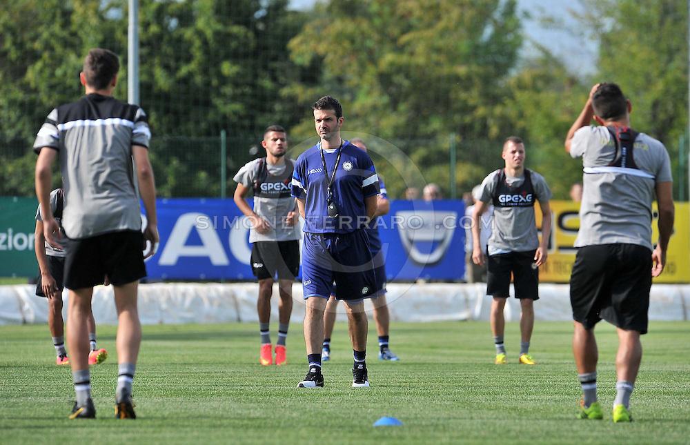 Udine 07/07/2014 calcio <br /> Udinese - Serie A 2014/15<br /> Primo allenamento per l'Udinese di Andrea Stramaccioni.<br /> &copy; foto di Simone Ferraro