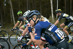 Emilie Moberg (NOR) of Hitec Products Cycling Team opens a gel on Stage 3 of the Ladies Tour of Norway - a 156.6 km road race, between Svinesund (SE) and Halden on August 20, 2017, in Ostfold, Norway. (Photo by Balint Hamvas/Velofocus.com)