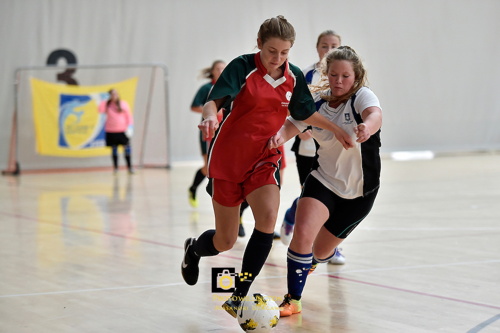 Action from NZSS National Futsal Championships at ASB Sports Centre, Kilbirnie, New Zealand on Friday 27 March 2015. <br /> Photo by Masanori Udagawa. <br /> www.photowellington.photoshelter.com.