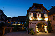 Nightfall in Eguisheim, Haut-Rhin, Grand Est, France