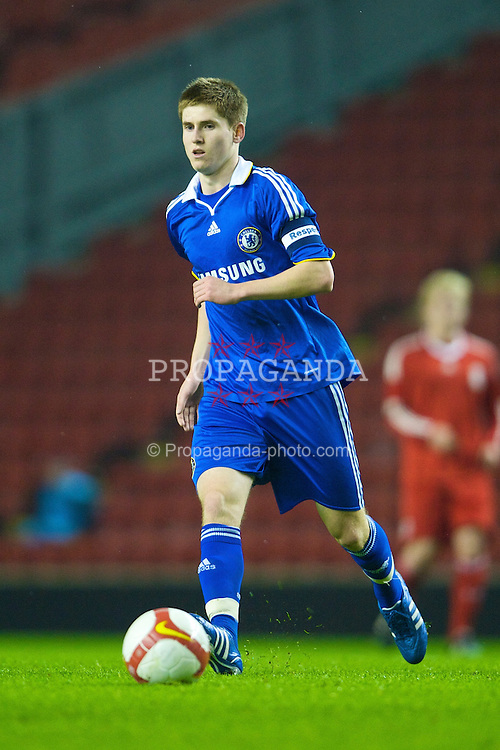 LIVERPOOL, ENGLAND - Thursday, February 5, 2009: Chelsea's captain Daniel Philliskirk during the FA Youth Cup 5th Round match against Liverpool at Anfield. (Mandatory credit: David Rawcliffe/Propaganda)