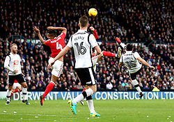 Bradley Johnson of Derby County acrobatically shoots at goal - Mandatory by-line: Robbie Stephenson/JMP - 11/12/2016 - FOOTBALL - iPro Stadium - Derby, England - Derby County v Nottingham Forest - Sky Bet Championship