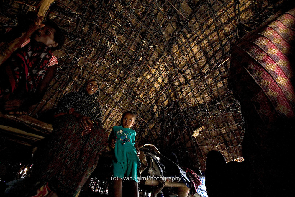 Inside an Afar hut on the flanks of Irte'Ale Volcano in Ethiopia