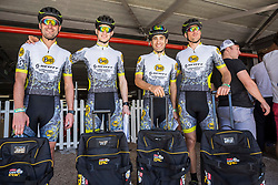 Joan Llordella & Adria Noguera Soldevila and Ismael Ventura & Enrique Morcillo Vergara during the pre race events held at the V&A Waterfront in Cape Town prior to the start of the 2017 Absa Cape Epic Mountain Bike stage race held in the Western Cape, South Africa between the 19th March and the 26th March 2017<br /> <br /> Photo by Dominic Barnardt/Cape Epic/SPORTZPICS<br /> <br /> PLEASE ENSURE THE APPROPRIATE CREDIT IS GIVEN TO THE PHOTOGRAPHER AND SPORTZPICS ALONG WITH THE ABSA CAPE EPIC<br /> <br /> ace2016